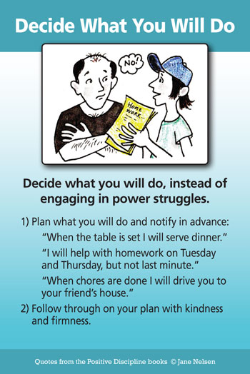Decide What You Will Do