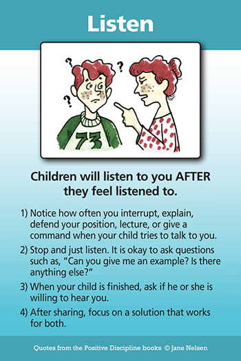 Listen Parenting Tool Card