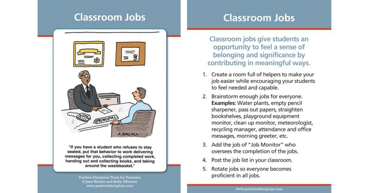 Classroom Jobs | Positive Discipline